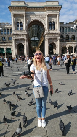 Becoming one w/ the Milano pigeons.